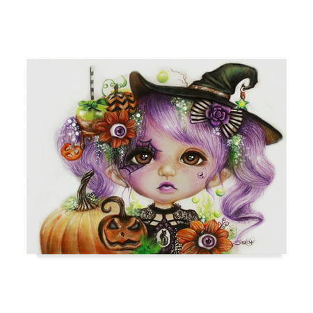 Trademark Fine Art 'Halloween Hannah' Canvas Art by Sheena Pike Art And - Hannah Halloween