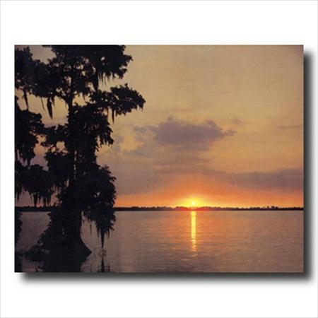 - Ocean Lake Beach Sunset Wall Picture Art Print