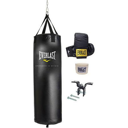 Everlast Boxing Speed Bag Set 6-Piece Platform Swivel Gloves Hand Wraps Drum Box