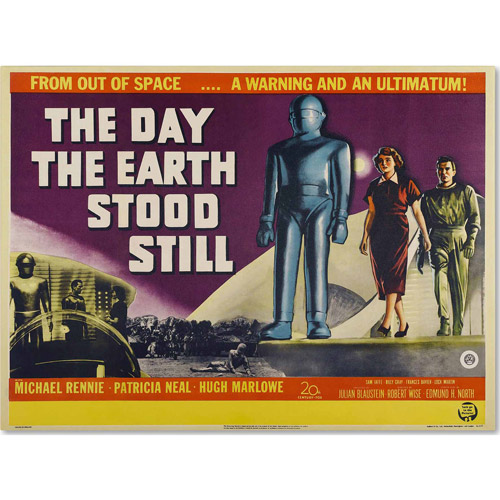 "Trademark Fine Art ""Day Earth Stood Still"" Canvas Art by Vintage Apple Collection"