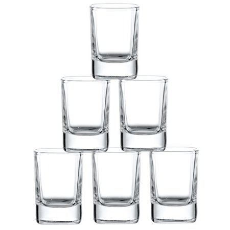 Heavy Shot (JoyJolt City Heavy Base Glass 2 oz. Every Day Glasses (Set of 6) )