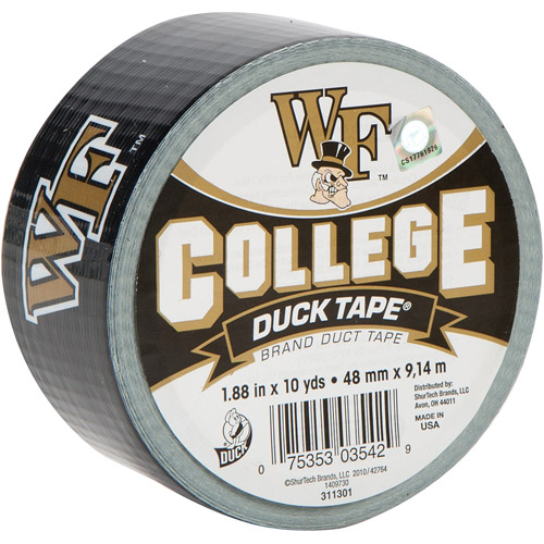 """Duck Brand Duct Tape, College Logo Duck Tape, 1.88"""" x 10 yard, Wake Forest Demon Deacons"""