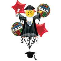 Anagram Congrats Bright Grad Graduation School Colors 7pc Balloon Pack