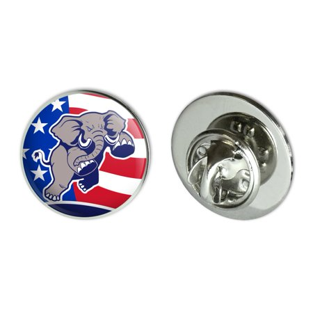 Angry Republican Elephant Politics GOP American Flag Metal 0.75