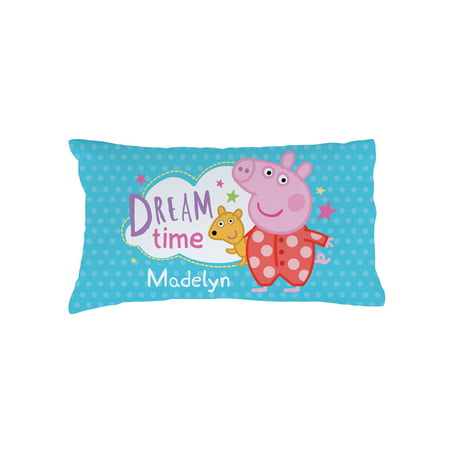 Personalized Peppa Pig Pillowcase - Dreamtime and Polkadots (Nick Jr Games Peppa Pig)