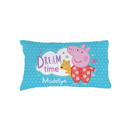 Personalized Peppa Pig Pillowcase - Dreamtime and Polkadots - Nick Jr Peppa Pig