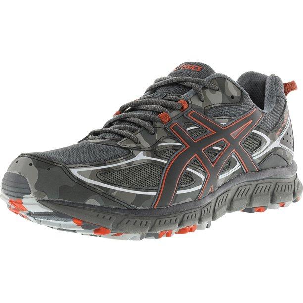 Asics Men's Gel-Scram 3 Dark Grey / Black Red Clay Ankle-High Running Shoe - 9M