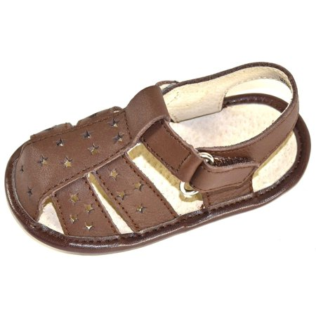 Closed Toe Fisherman Sandal - L'Amour Baby First Walker Shoes Leather Closed Toe Fisherman Sandals (2, Brown)