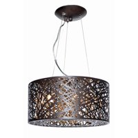 ET2 Inca E21309 7-Light Pendant Bronze