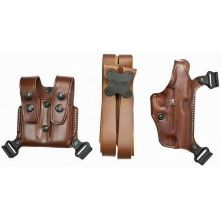 Galco Miami Classic Shoulder System - Galco MCII228 Miami Classic II Shoulder System Fits Glock 21 Steerhide Tan
