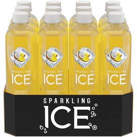 Sparkling Ice Naturally Flavored Sparkling Water, Coconut Pineapple, 17 Fl Oz, 12 Count