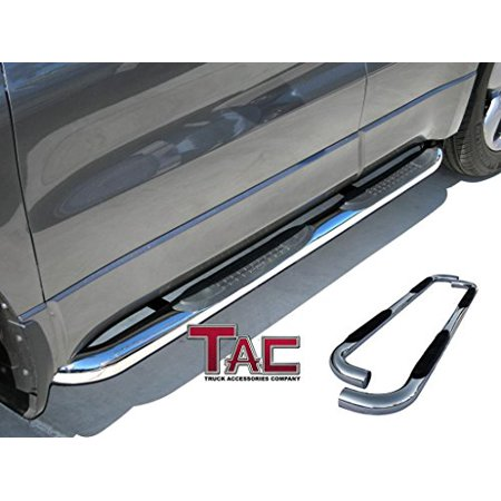 TAC Side Steps for 2005-2019 Toyota Tacoma Access Cab Truck Pickup 3 inches T304 Stainless Steel Side Bars Nerf Bars Running Boards ()
