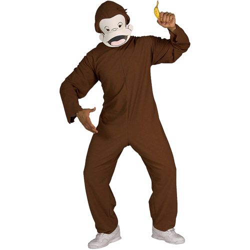 Curious George Adult Halloween Costume, Size: Men's - One Size