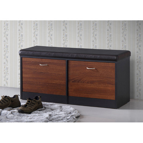 Wholesale Interiors Foley Wood Storage Entryway Bench