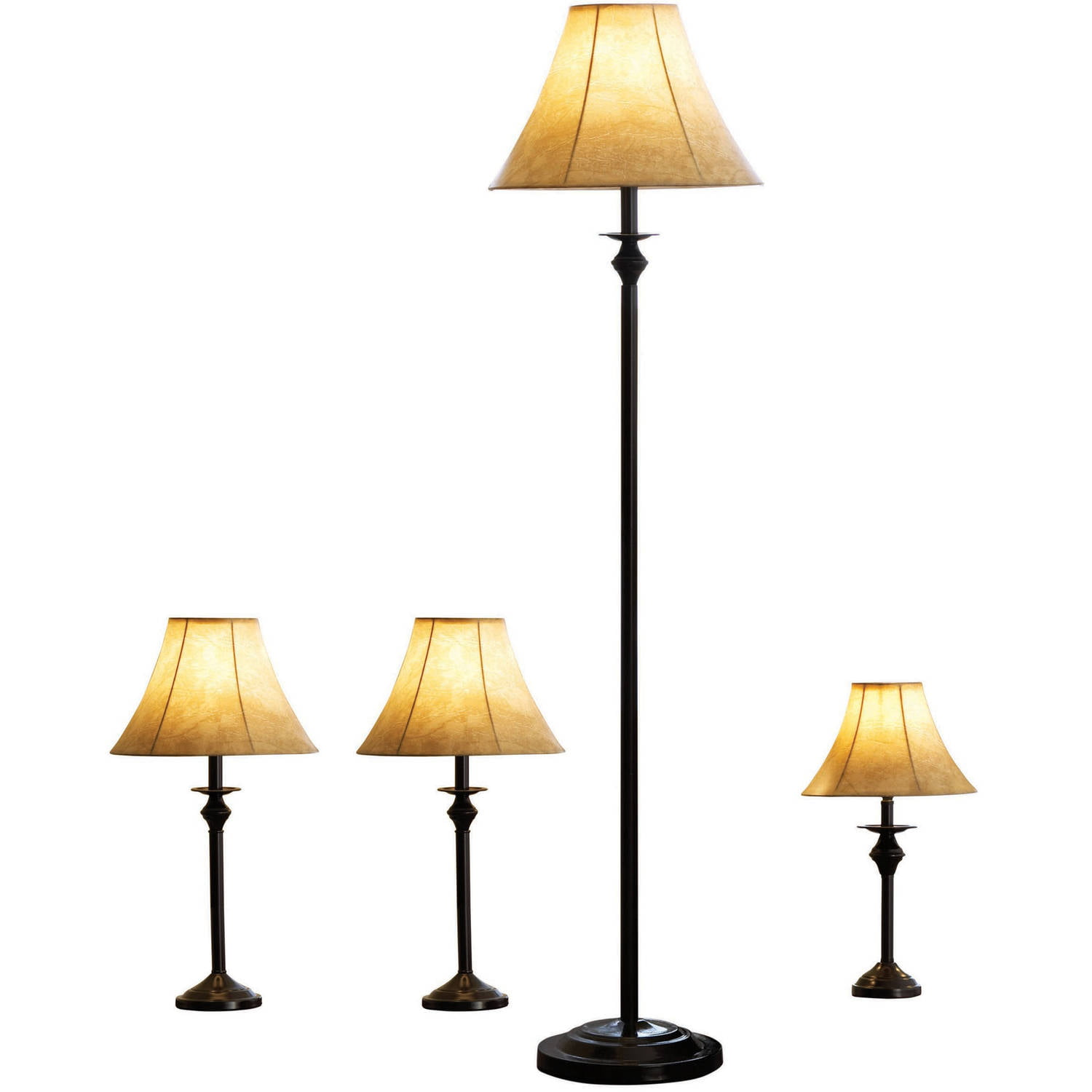 better homes and gardens 4 piece lamp set bronze finish cfl household lighting fixtures e50 household