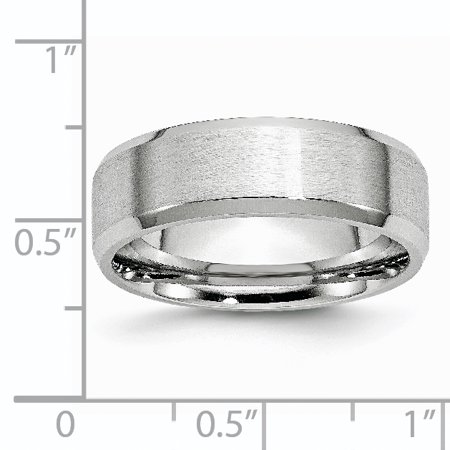 Cobalt Beveled Edge 7mm Wedding Ring Band Size 11.00 Classic Flat W/edge Fashion Jewelry For Women Gifts For Her - image 2 of 10
