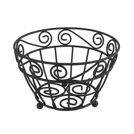 Spectrum Diversified Scroll Fruit Bowl, Black, 39010