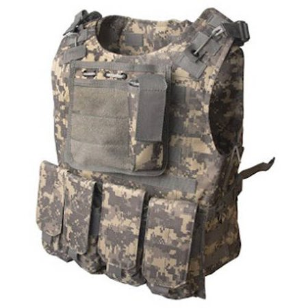 Paintball Body Armor (ALEKO PBTV52 Paintball Chest Protector Vest Outdoor Sports Body Armor, Camouflage )