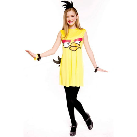 Angry Birds Yellow Bird Child/Tween Costume - 2-7 Angry Birds Halloween