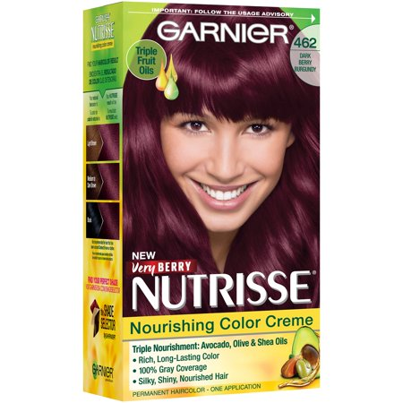 Garnier Nutrisse Nourishing Hair Color Creme Reds 462 Dark Berry