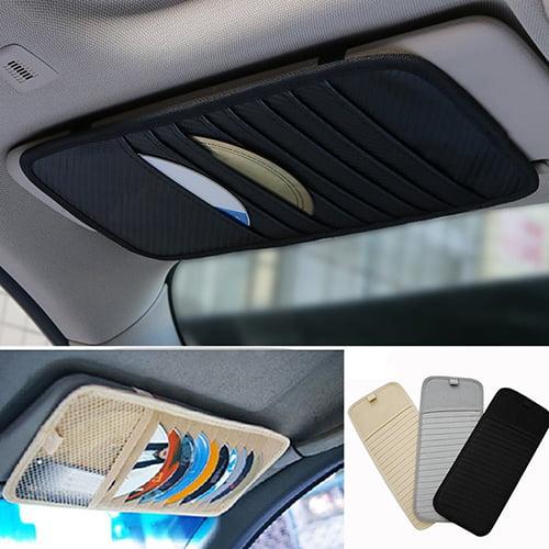 Obstce 1Pc Car Auto Visor CD DVD Card Case Holder Clipper Disks Hold Organizer Bag