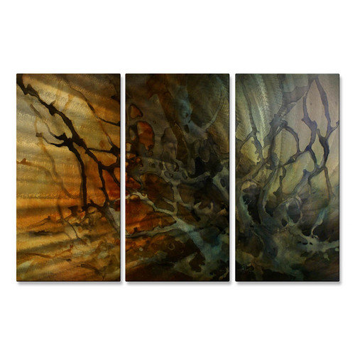 All My Walls 'Time to Recharge' by Michael Lang 3 Piece Graphic Art Plaque Set