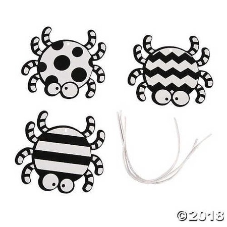 Color Your Own Fuzzy Spider Ornaments (Fuzzy Spiders)