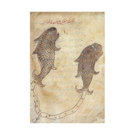 Constellation Pisces from the Book of Fixed Stars by Azophi Print Wall Art
