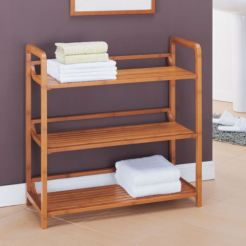 Neu Home Lohas Collection 3-Tier Shelf, Carbonized Bamboo