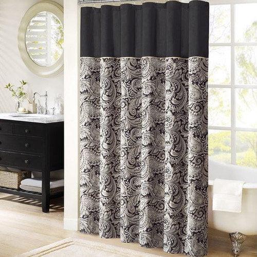 Home Essence Charlotte Jacquard Shower Curtain by E&E Co.
