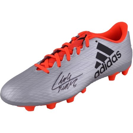 Luis Suarez Barcelona Autographed Adidas Silver and Orange Cleat - BAS - Fanatics Authentic (Adidas Asymmetrical Cleats)