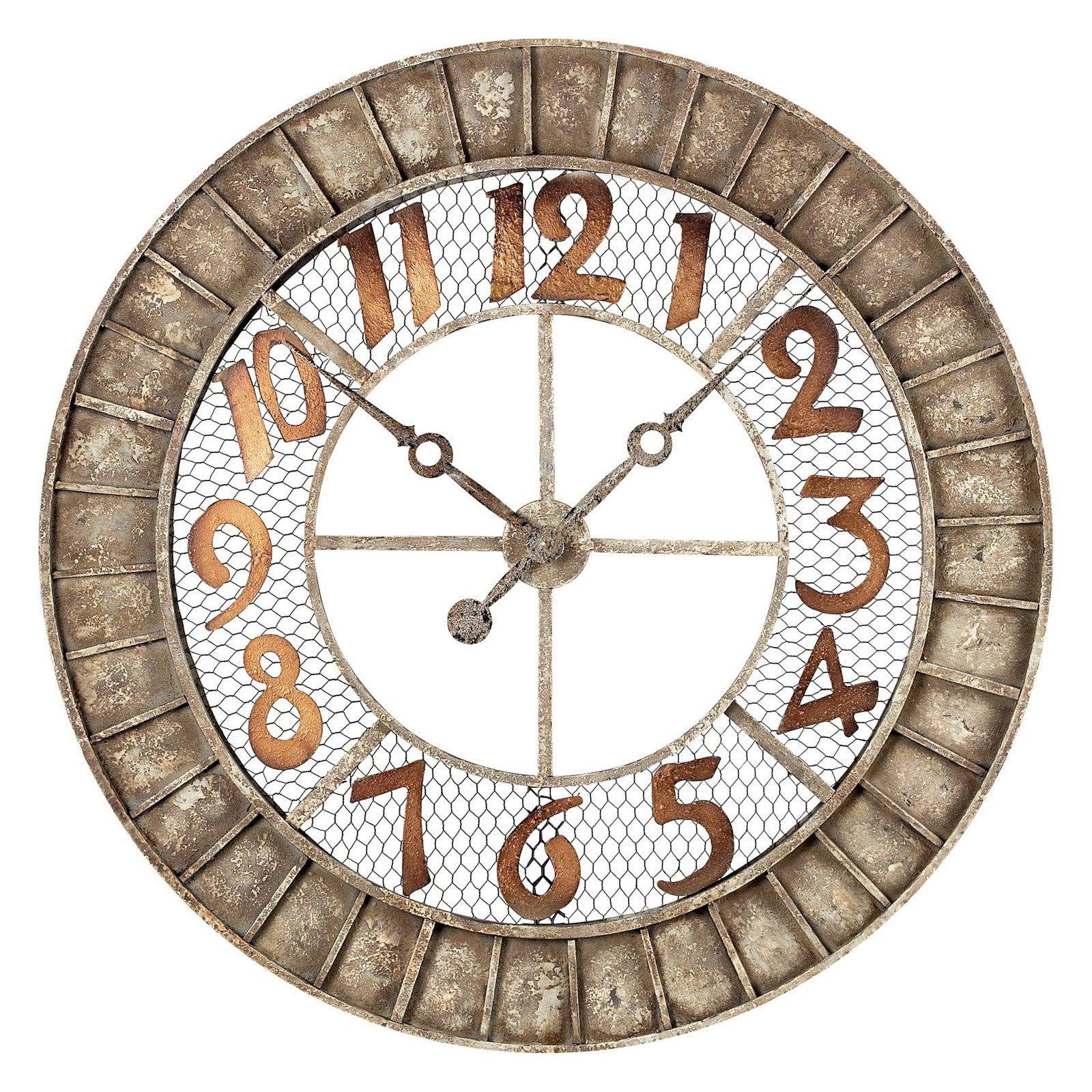 Sterling 36 in. Metal Outdoor Wall Clock