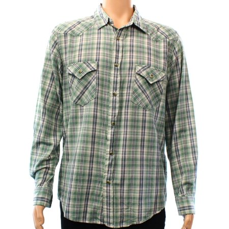 Pendleton New Green Mens Size Large L Plaid Button Down