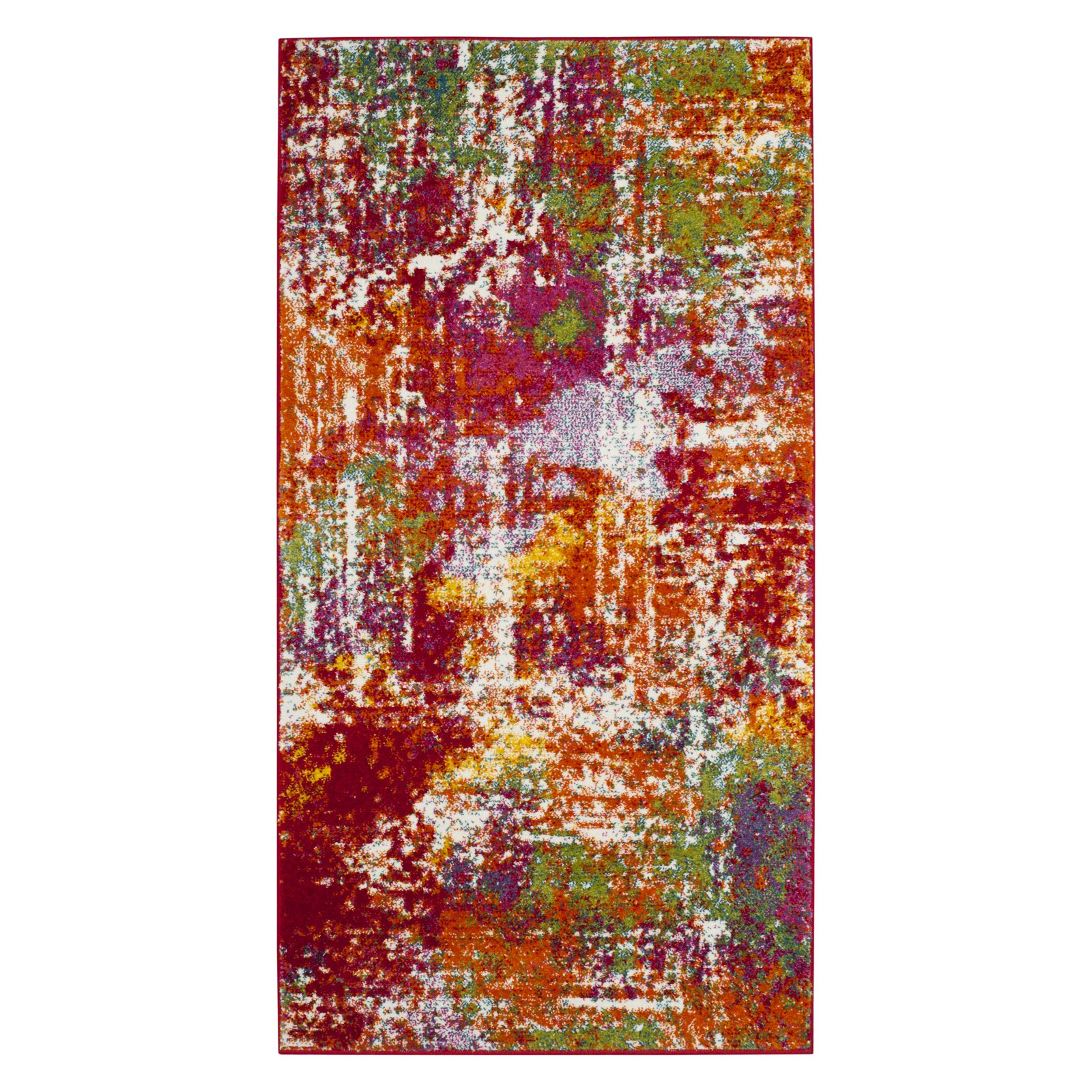 Safavieh Watercolor Gemma Power-Loomed Area Rug, Orange/Green