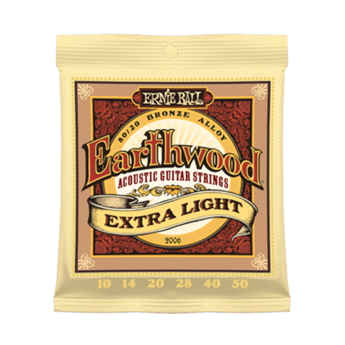 Ernie Ball 2006 Earthwood Extra Light Acoustic Guitar Strings