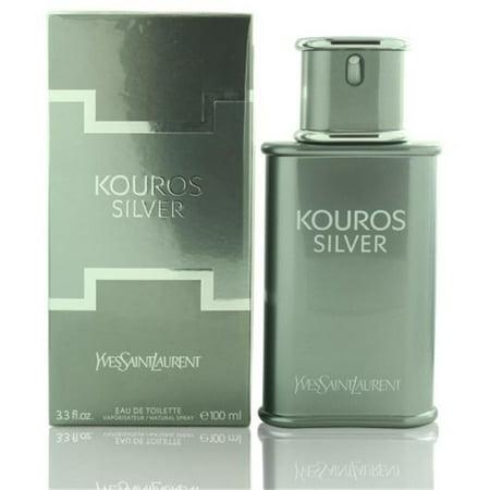 68ec501d26a Yves Saint Laurent MKOUROSSILVER33EDTSP 3.3 oz Mens Kouros Silver Eau De  Toilette Spray - Walmart.com