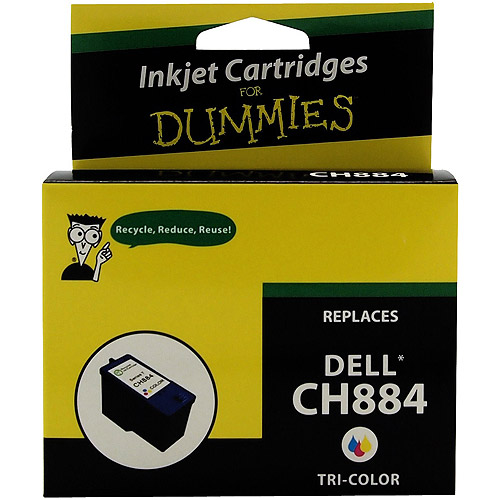 For Dummies - Dell CH884 High Yield Color Inkjet Cartridge 968 966 Series 7, Remanufactured
