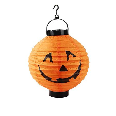 Halloween Pumpkin Hanging Lamp with LED lighting Paper Lantern (Halloween Paper Lanterns Craft)