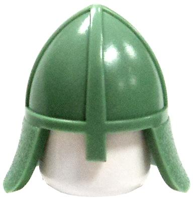 LEGO Headgear Sand Green Conical Helmet with Noseguard [Loose]