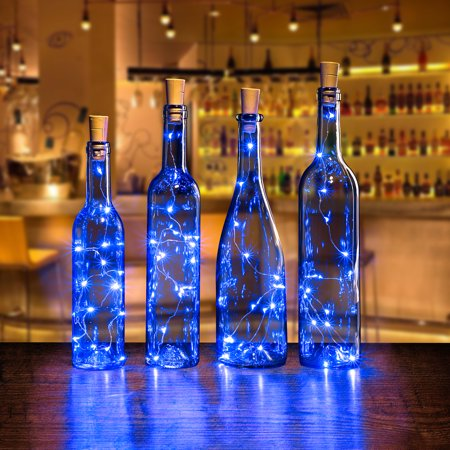 Agptek 4pcs Led Cork Bottle Lights Mini String Light
