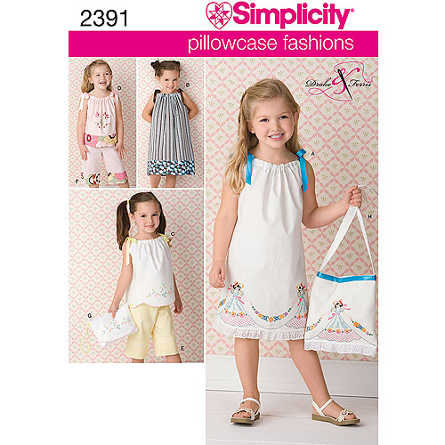 Simplicity Pattern Childs Dress, (3, 4, 5, 6, 7, 8)