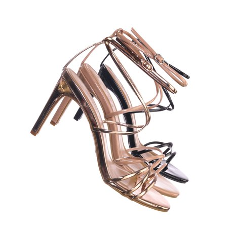 f2754439138 Anne Michelle - Desired06 by Anne Michelle, High Heel Thin Strappy Dress  Sandal - Women Criss Cross Evening Shoes - Walmart.com