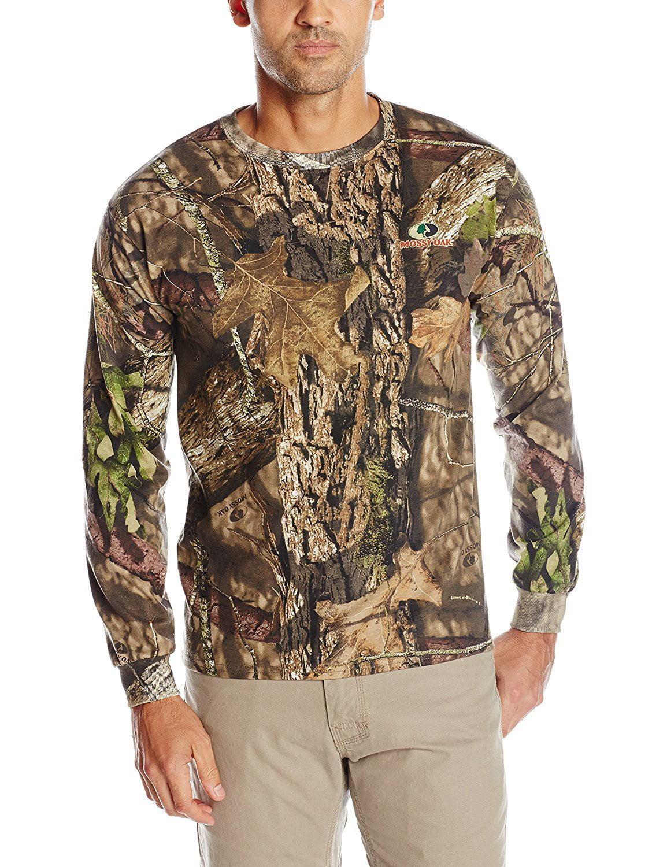 Mossy Oak Men's Long Sleeve Camo Tee, Camouflage, Medium by Mossy Oak