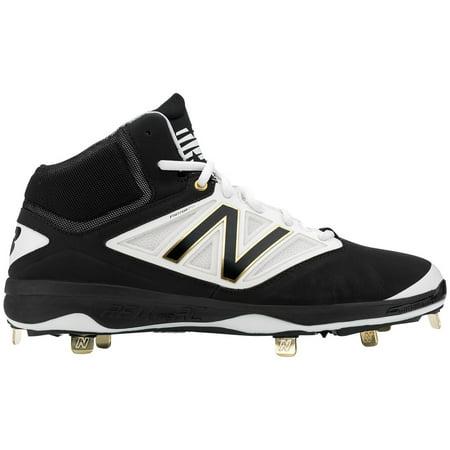 db5c934ac21 New Balance Men s 4040 V3 Mid Metal Baseball Cleats (Black White