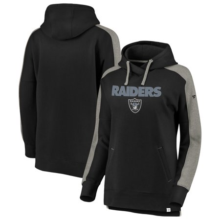 lowest price 09d59 92675 Oakland Raiders NFL Pro Line by Fanatics Branded Women's Plus Size Color  Block Pullover Hoodie - Black/Heathered Gray