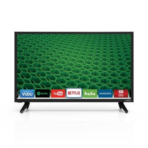 VIZIO D24-D1 D-Series 24' Class LED Smart TV (Black) (Certified Refurbished)