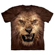 Brown 100% Cotton Big Face Roaring Lion T-Shirt