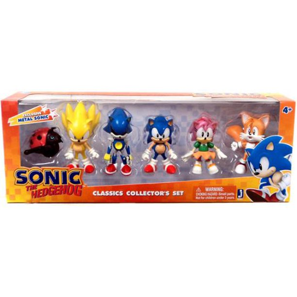 Sonic The Hedgehog 20th Anniversary Classic Collector S Set Mini Figure 6 Pack Walmart Com Walmart Com