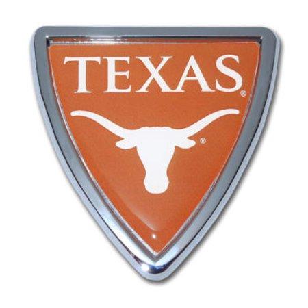 University of Texas Shield Chrome Emblem Tigers Chrome Auto Emblem