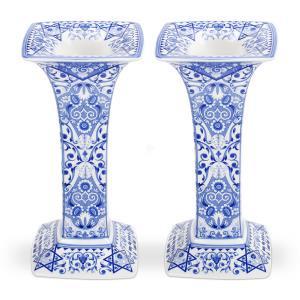 Spode Judaica Sabbath Candlesticks, Set of 2 (Silver Sabbath Candlesticks)